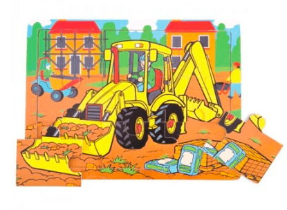 Bigjigs Toys 2 Plus Medium Tray Puzzle - Digger