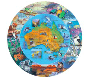 Blue Opal 6 Plus 100 Pc Puzzle - Wild Australia, From Desert to Sea