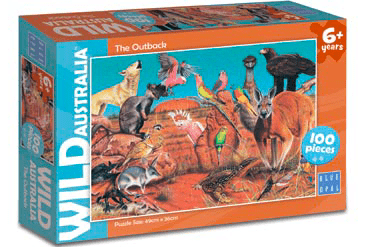 Blue Opal 6 Plus 100 Pc Puzzle - Wild Australia, The Outback