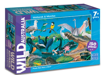 Blue Opal 7 Plus 150 Pc Puzzle - Wild Australia, Wetlands & Marshes