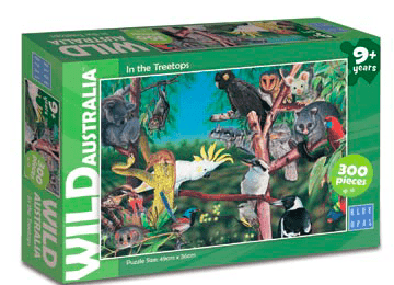 Blue Opal 9 Plus 300 Pc Puzzle - Wild Australia, In the Treetops
