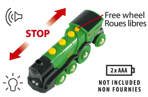 Brio 3 Plus Big Green Action Locomotive