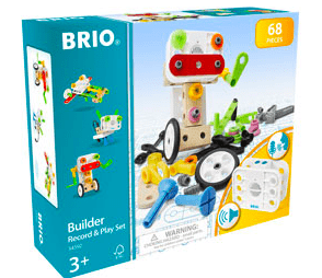 Brio 3 Plus Builder Record & Play Set