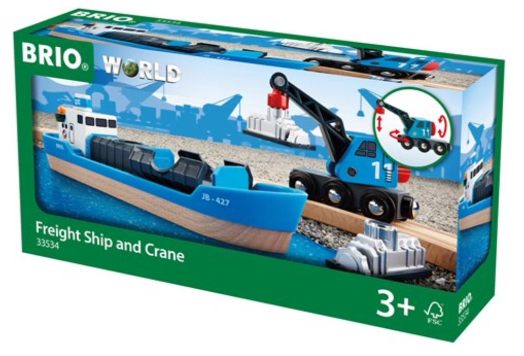 Brio 3 Plus Freight Ship & Crane
