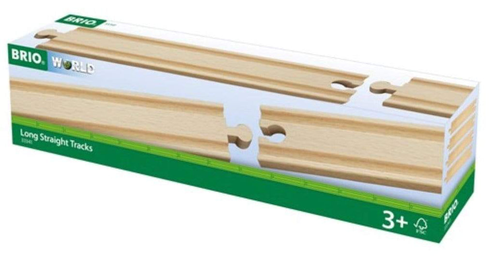 Brio 3 Plus Long Straight Tracks - 4pc