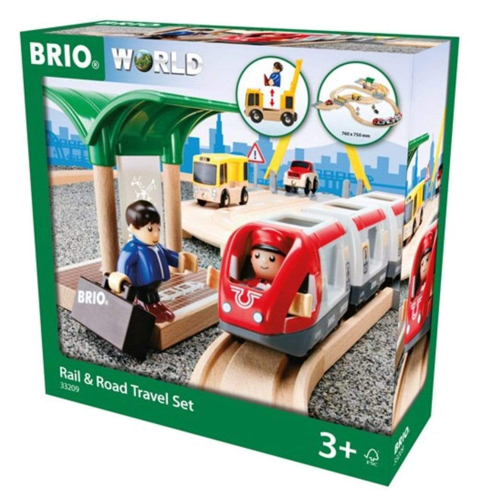 Brio 3 Plus Rail & Road Travel Set - 33pc