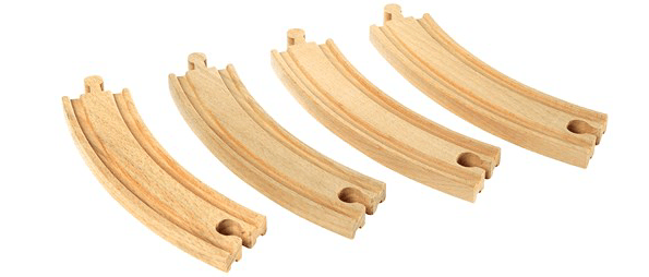 Brio General Large Curved Tracks - 4pc