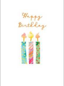Candlebark Greeting Cards Candles for Your Birthday