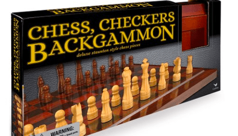 Cardinal 6 Plus Chess - Checkers - Backgammon