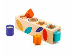 Djeco 18 Mths Plus Boita Basic Shape Sorter