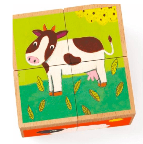 Djeco 2 Plus Meuh & Co Farm Puzzle