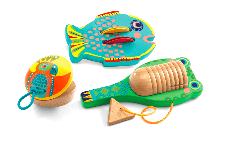 Djeco 3 Plus Animambo - Percussion Set
