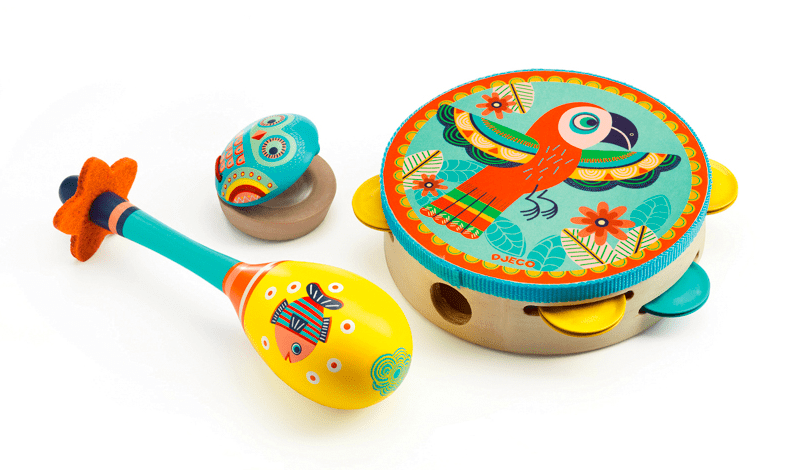 Djeco 3 Plus Animambo- Set of 3 Instruments