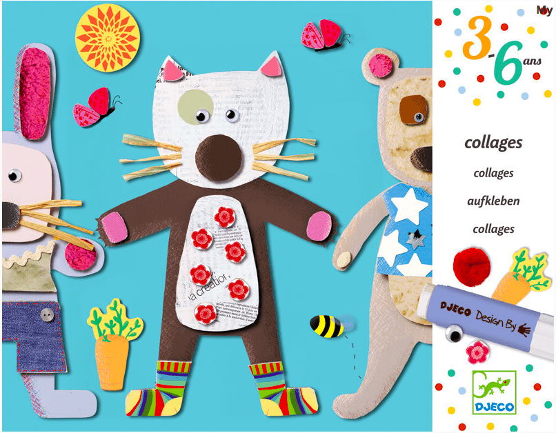 Djeco 3 Plus Collage for Little Ones