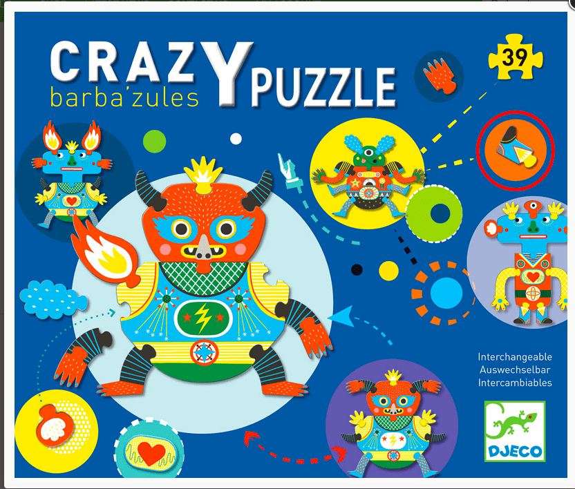 Djeco 3 Plus Crazy Barba'zules Puzzle