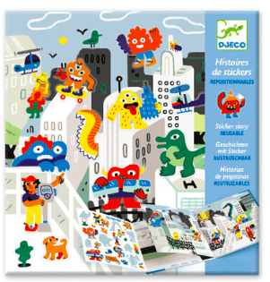 Djeco 4 Plus Sticker Set Monster Invasion