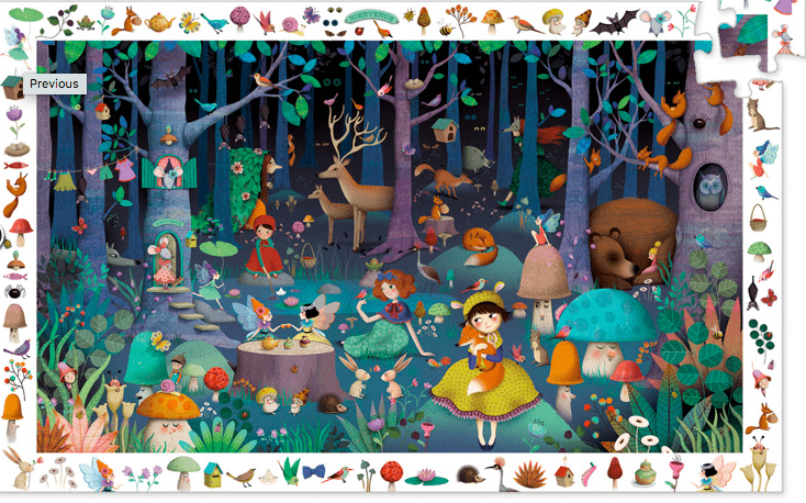 Djeco 5 Plus 100 Pc Puzzle - Enchanted Forest