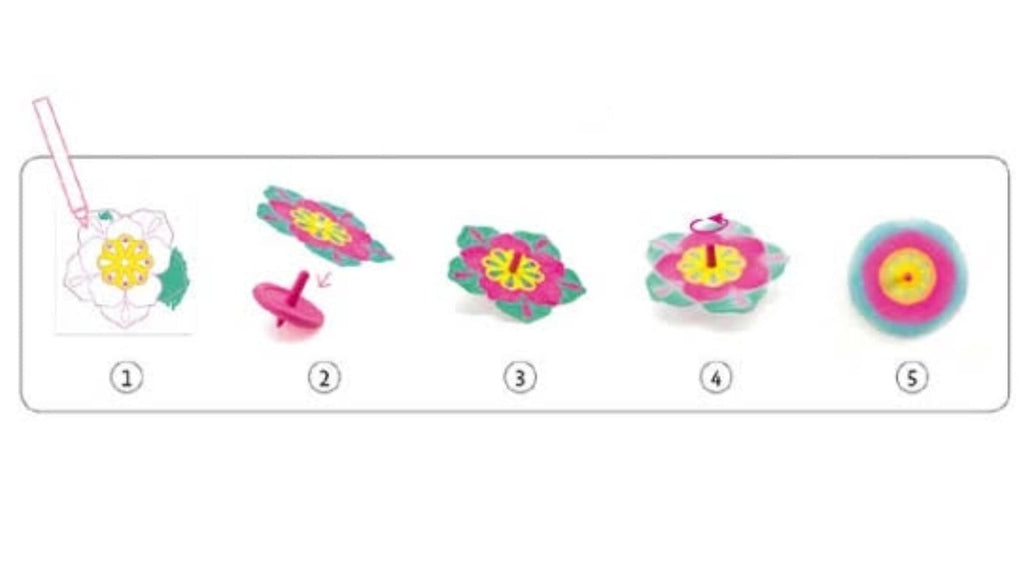 Djeco 5 Plus Do It Yourself Spinning Top - Flowers