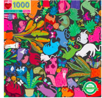 eeBoo 10 Plus 1000 Pc Puzzle - Cats at Work