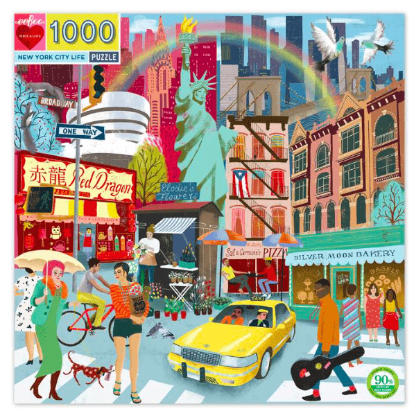 eeBoo 10 Plus 1000 Pc Puzzle - New York City Life