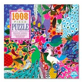 eeBoo 10 Plus 1000 Pc Puzzle - Peacock Garden