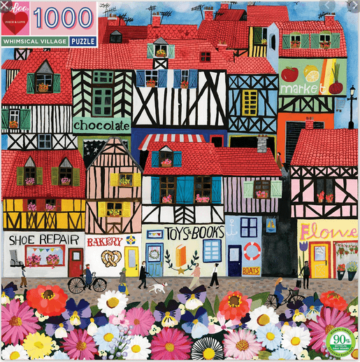 eeBoo 10 Plus 1000 Pc Puzzle - Whimsical Village