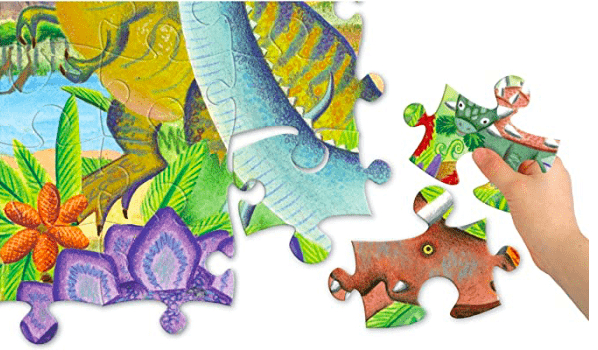 eeBoo 5 Plus 100 Pc Puzzle - Age of the Dinosaur