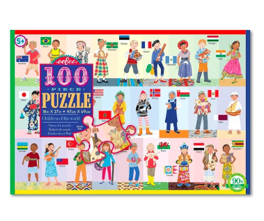 eeBoo 5 Plus 100 Pc Puzzle - Children of the World