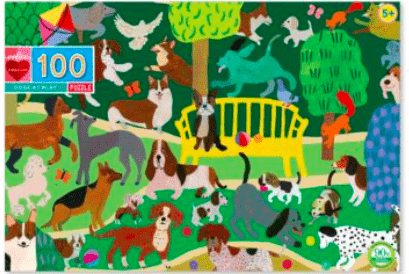 eeBoo 5 Plus 100 Pc Puzzle - Dogs at Play