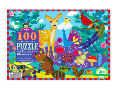 eeBoo 5 Plus 100 Pc Puzzle - Life on Earth