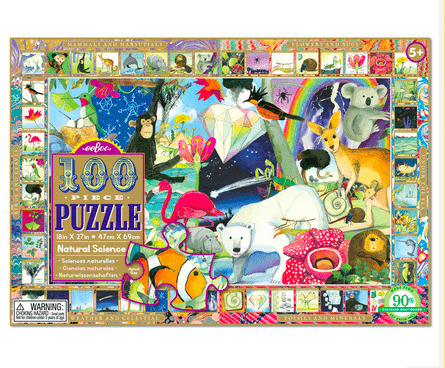 eeBoo 5 Plus 100 Pc Puzzle - Natural Science