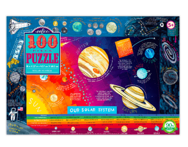 eeBoo 5 Plus 100 Pc Puzzle - Our Solar System