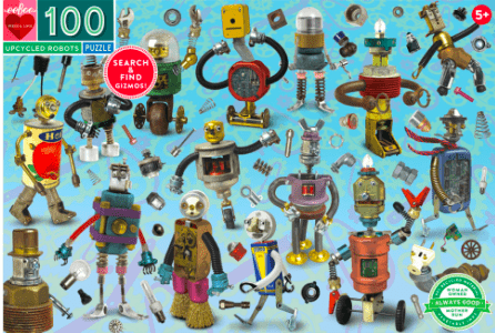 eeBoo 5 Plus 100 Pc Puzzle - Upcycled Robots