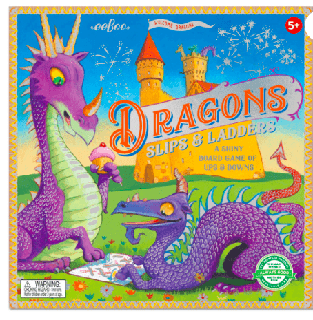 eeBoo 5 Plus Dragons Slips & Ladders