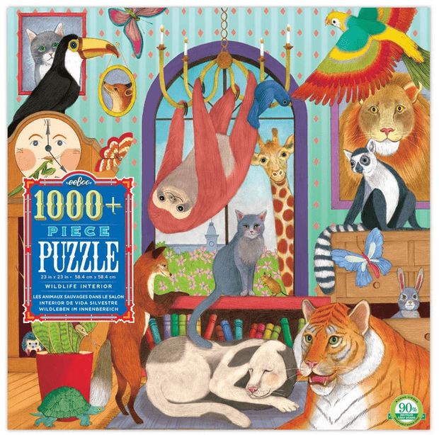 eeBoo 8 Plus 1000 Pc Puzzle - Wildlife Interior