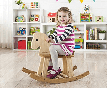 Ever Earth 12 Months to 3 Years Bamboo Rocking Horse