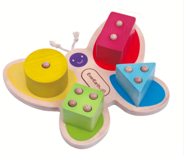 Ever Earth 12 Mths Plus Butterfly Stacking Toy