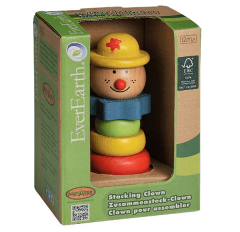 Ever Earth 12 Mths Plus Educational Stacking Clown - Yellow Hat