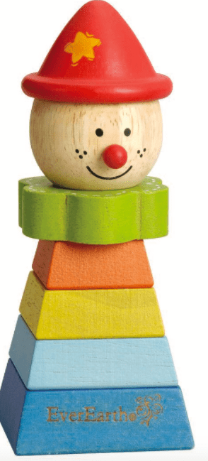Ever Earth 12 Mths Plus Stacking Clown - Red Hat