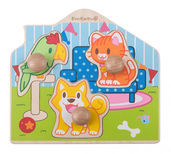 Ever Earth 12 Mths to 2 Yrs Peg Pet Puzzle