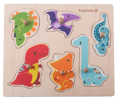 Ever Earth 2 Plus Dinosaur Peg Puzzle