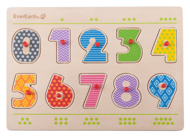 Ever Earth 2 Plus Number Peg Puzzle