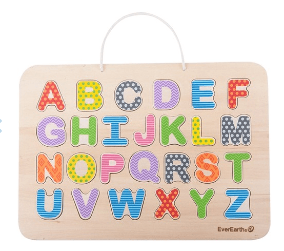 Ever Earth 3 Plus Magnetic Alphabet Puzzle & Drawing Board