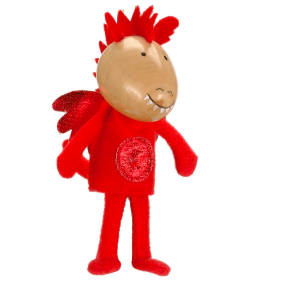 Fiesta Crafts 3 Plus Finger Puppet - Fantasy - Red Dragon