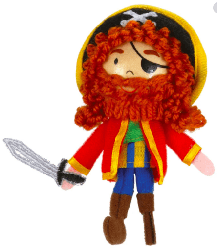Fiesta Crafts 3 Plus Finger Puppet - People - Long John Silver