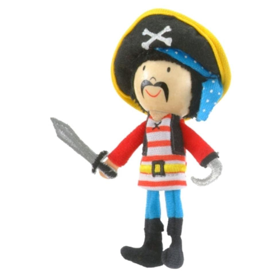 Fiesta Crafts 3 Plus Finger Puppet - People - Pirate Stripes