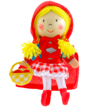 Fiesta Crafts 3 Plus Finger Puppet - People - Red Riding Hood