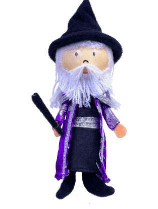Fiesta Crafts 3 Plus Finger Puppet - People - Wizard