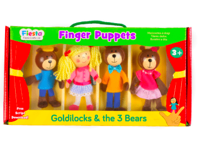 Fiesta Crafts 3 Plus Finger Puppet - Set - Goldilocks