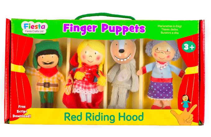 Fiesta Crafts 3 Plus Finger Puppet - Set - Red Riding Hood